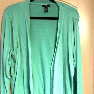 Gap mint green button-down cardigan